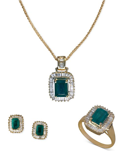 EFFY Collection EFFY® Jewelry Emerald and Diamond Jewelry Ensemble .