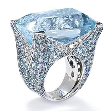 Amazon.com: Botrong Exquisite Ring Sapphire Diamond Jewelry .