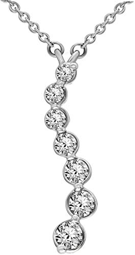 Amazon.com: Valentines Day Necklace Natural Diamond Necklace 3/8 .
