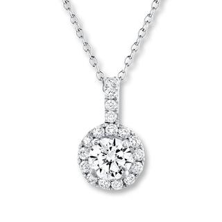 Leo Diamond Necklace 5/8 ct tw Diamonds 14K White Gold | Womens .