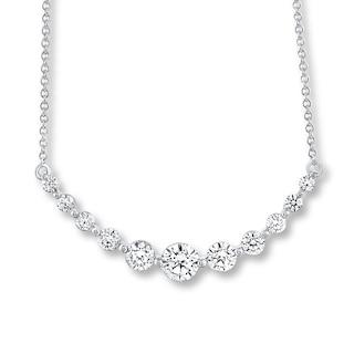 Leo Diamond Necklace 1 ct tw Diamonds 14K White Gold | Womens .