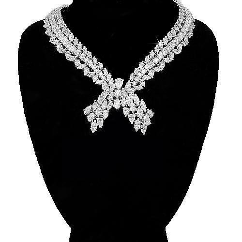 Platinum Womens Diamond Necklace 40.00 Ctw – Avianne Jewele