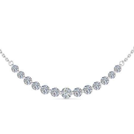 Fascinating Diamonds - 1 Carat Round Graduated Diamond Necklace .