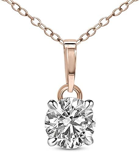 Amazon.com: Natural Diamond Pendant IGI Certified 3/4 cttw Diamond .