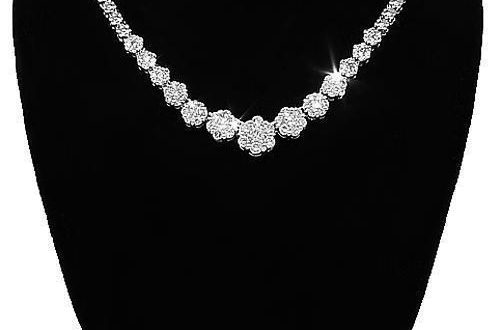 14K White Solid Gold Womens Diamond Necklace 3.50 Ctw – Avianne .