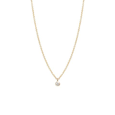Zoë Chicco – 14k single diamond pendant neckla