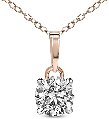 Amazon.com: Natural Diamond Pendant IGI Certified 3/4 cttw Diamond .