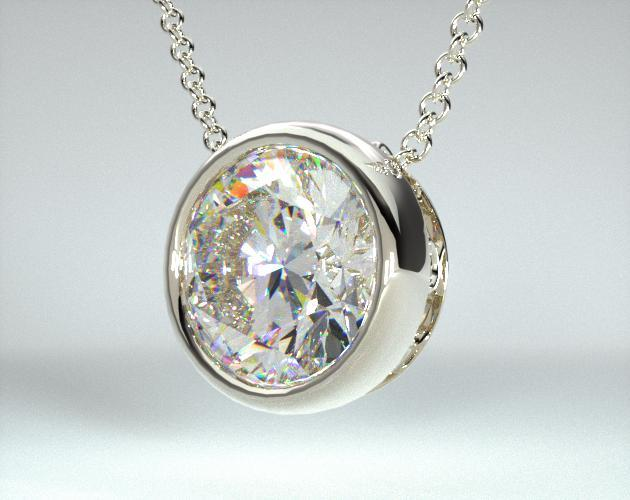 fine jewelry, design your own pendants, 14k white gold bezel .