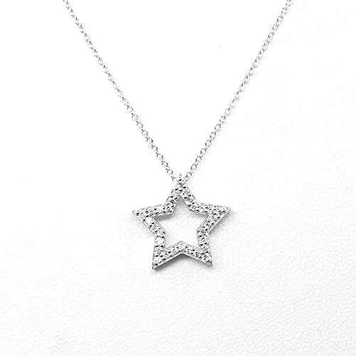 Amazon.com: Star Shaped Diamond Pendant Necklace, Diamond Necklace .