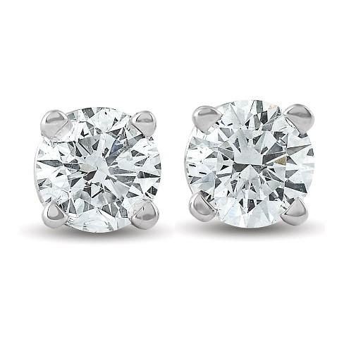 Pompeii3 1/3 Ctw 14k White Gold Diamond Stud Earrings : Targ
