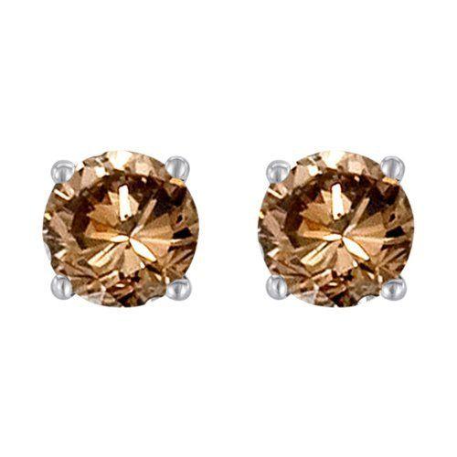 Chocolate Diamond Stud Earrings | ... Conflict Free Round Diamond .