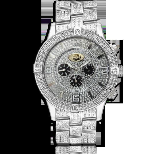 1.00 tcw Men's Diamond Watch set in Stainless Steel - Unclaimed .