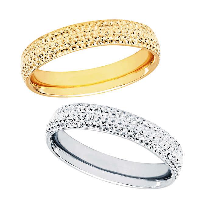 4mm Diamond Cut Wedding Ring 14kt Go