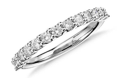 Luna Diamond Wedding Ring in Platinum (1/2 ct. tw.) | Blue Ni