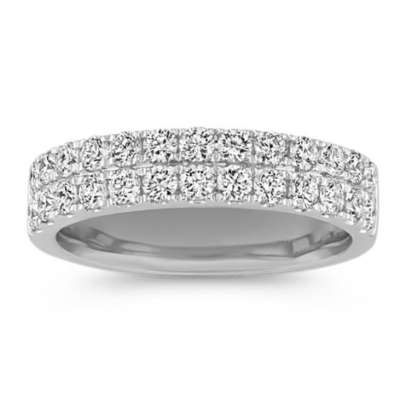 Double Row Diamond Wedding Band | Shane C