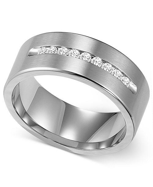 Triton Men's Channel-Set Diamond Wedding Band in Cobalt (1/4 ct .