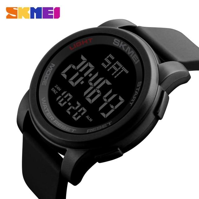 SKMEI Brand Men's Watches LED Digital Watch Men Wrist Watch Black .