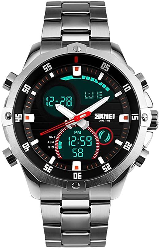 Amazon.com: SKMEI Mens Military Wrist Watch Analog Digital Watch .