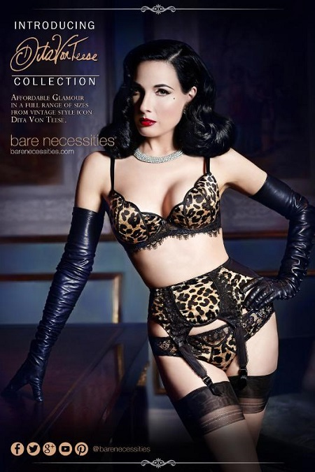 Bare Necessities introduces Dita Von Teese lingerie - A Beauty .