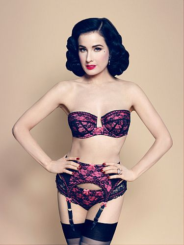 Dita Von Teese unveils her latest lingerie collecti