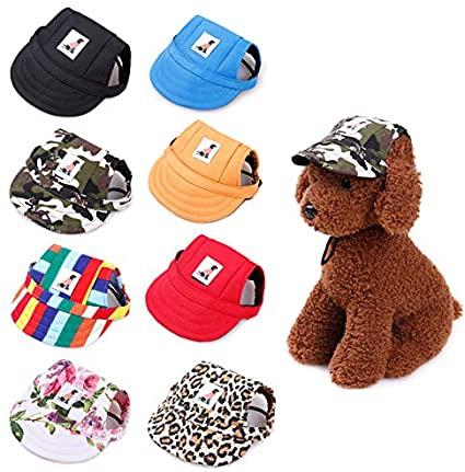 Amazon.com : Gogobuddy Dog Hats, 8 Packs Multi-Color Pet Baseball .