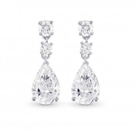 Pear Diamond Drop Earrings, SKU 28788V (2.50Ct T