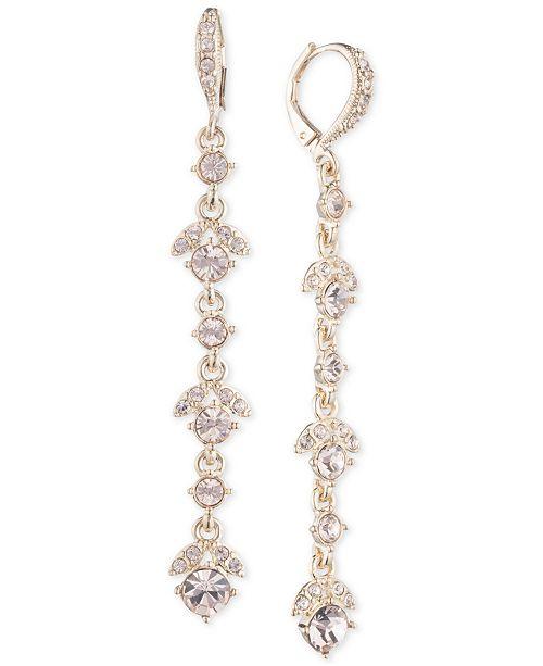 Givenchy Crystal Linear Drop Earrings & Reviews - Earrings .