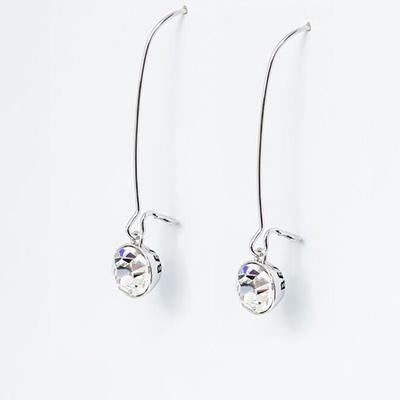 Clear Swarovski Crystal Drop Earrings - Believe Ban