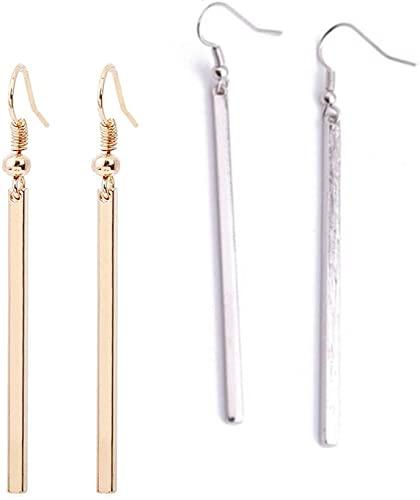 Amazon.com: Bar Dangle Threader Drop Earrings Tassel Ear Studs .