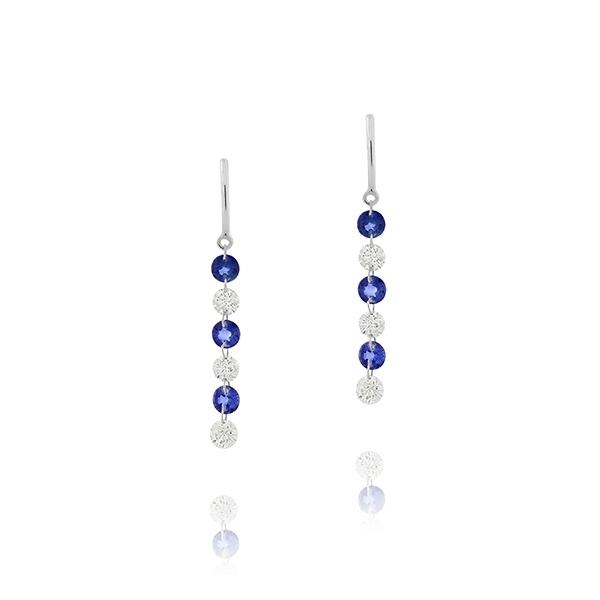 Sapphire & Diamond Drop Earrings | Reis-Nichols Jewele