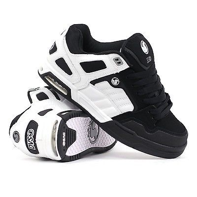 New DVS Throttle Skateboard Skate Shoes - White/Black Nubuck - All .