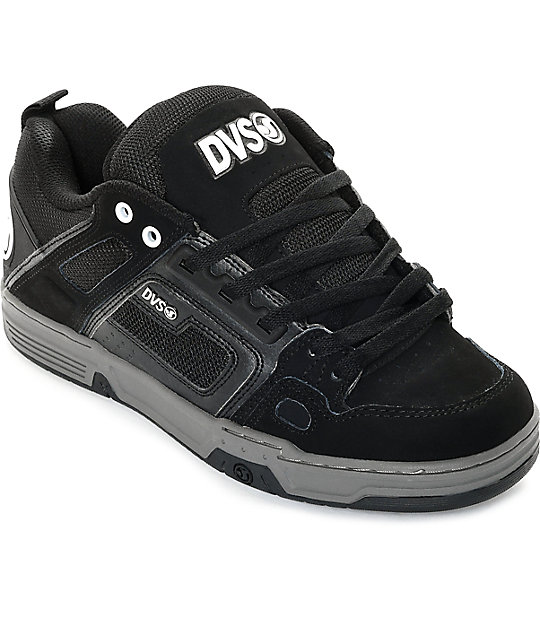 DVS Comanche Black Nubuck Skate Shoes | Zumi