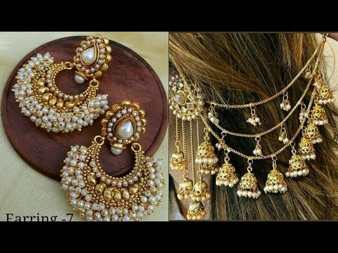 Latest gold #earring designs for girls 2019 - YouTu