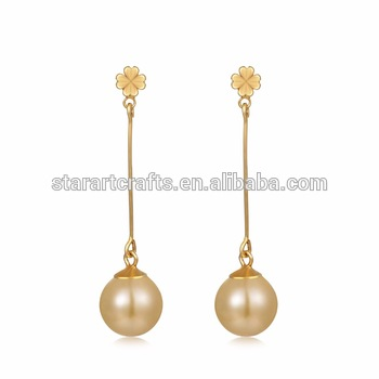 Small Moq Best Gifts Simple Gold Pearl Earring Designs For Women .
