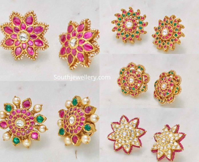 Stud Earrings latest jewelry designs - Indian Jewellery Desig