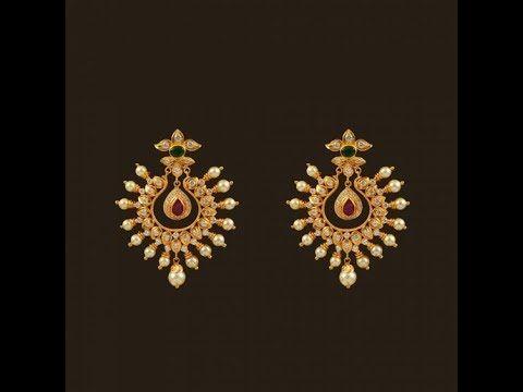 Latest Fresh Pearl Gold Earring Designs - YouTube | Gold earrings .