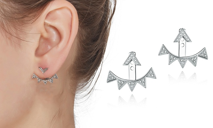 Diamond Accent Earring Jackets | Groupon Goo
