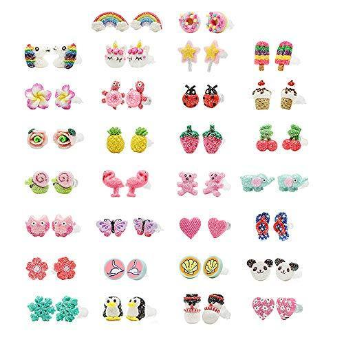 minihope Hypoallergenic Plastic Post Earrings for Girls, Cute .