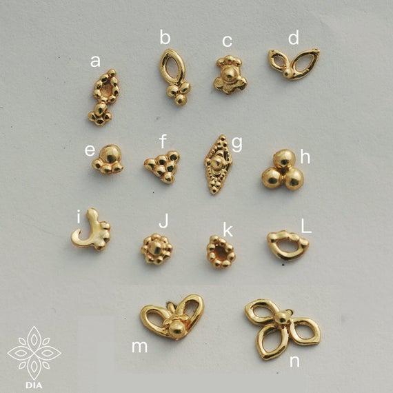 Tiny gold earrings Gold stud earrings Girls earrings gold | Et