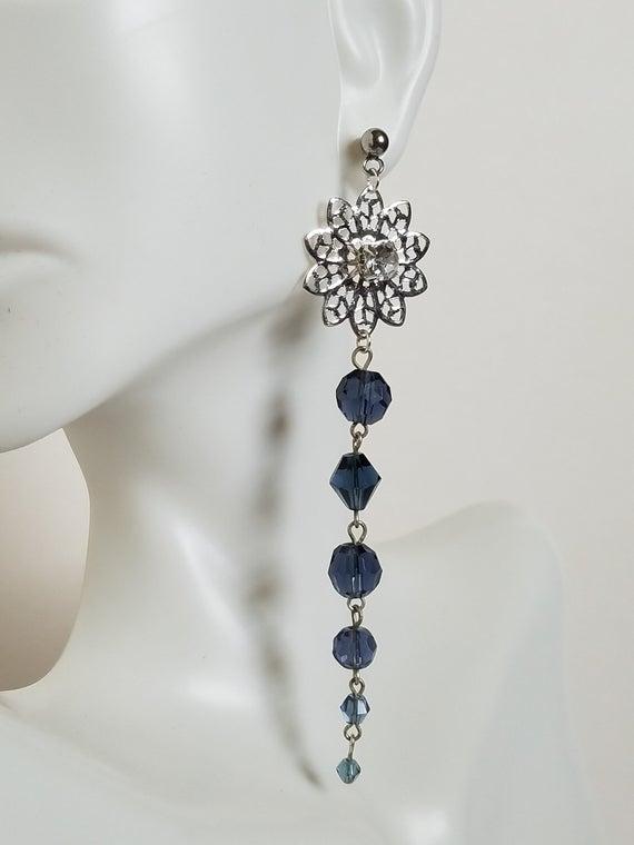 Blue Earrings Long Earrings Statement Jewelry Trendy | Et