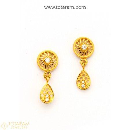 Gold Earrings for Women | Gold earrings for women, Gold earrings .