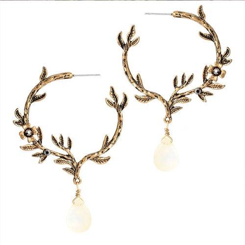 Mountain Lodge Hoop Earrings for Women — Peaceful Isla
