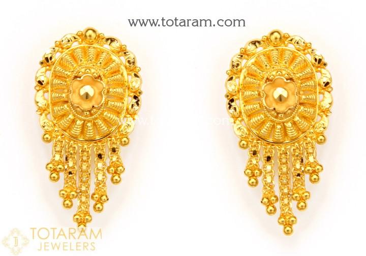 22K Gold Earrings for Women - 235-GER10219 in 5.050 Gra