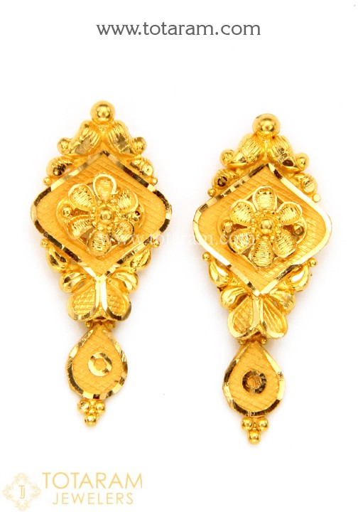 22K Gold Earrings for Women - 235-GER10564 in 5.050 Gra