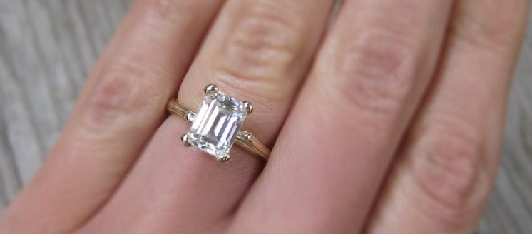 5 Carat Emerald Cut Diamond Engagement Ring - Your Diamond Teach