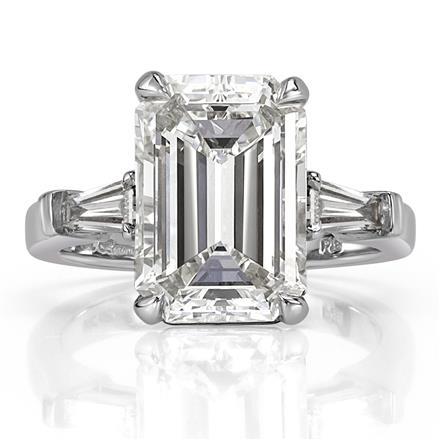 5.89ct Emerald Cut Diamond Engagement Ri