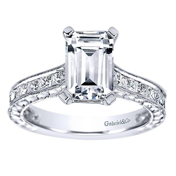 Emerald cut diamond engagement ring | Boston - Freedman Jewele