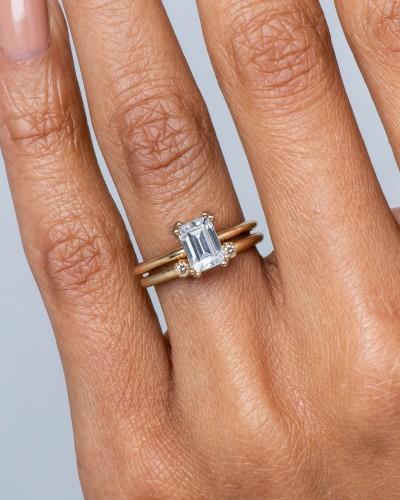 Ray Diamond Emerald Cut Ring - Bario Ne