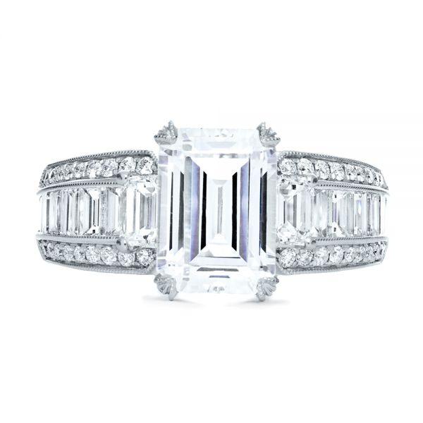 Emerald Cut Diamond Engagement Ring #192 - Seattle Bellevue .