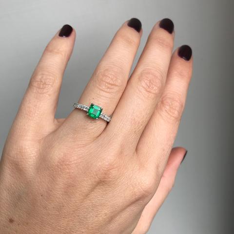 Colombian Emerald Diamond Engagement Ring – De Maria Jewel